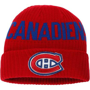 Montreal Canadiens Fanatics Branded True Classic Bold Cuffed Knit Hat - Red