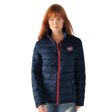 Montreal Canadiens G-III Sports by Carl Banks Women's Packable Jacket - Navy