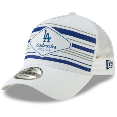 Los Angeles Dodgers New Era Coastline A-Frame 9FORTY Trucker Hat - White
