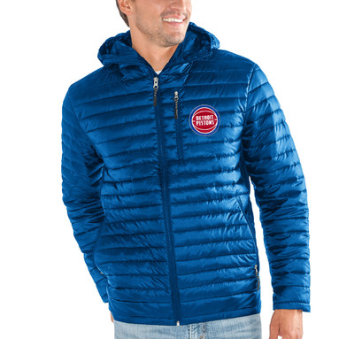 Detroit Pistons G-III Sports by Carl Banks Equator Quilted Performance Full Zip Jacket – Blue