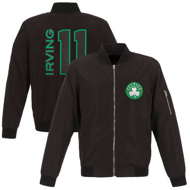 Kyrie Irving Boston Celtics Fanatics Branded Player Full-Zip Bomber Jacket - Black