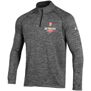San Francisco Giants Under Armour Tech Quarter-Zip Performance Pullover - Charcoal