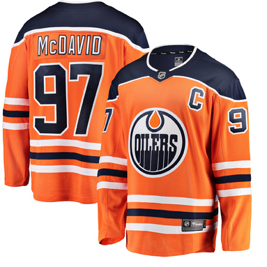 Connor McDavid Edmonton Oilers Fanatics Branded Breakaway Player Jersey - Orange