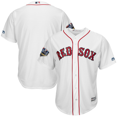 Boston Red Sox Majestic 2018 World Series Cool Base Team Jersey – White