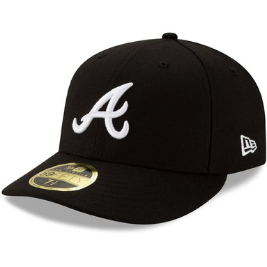 Atlanta Braves New Era Team Low Profile 59FIFTY Fitted Hat – Black
