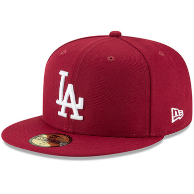 Los Angeles Dodgers New Era Fashion Color Basic 59FIFTY Fitted Hat – Crimson