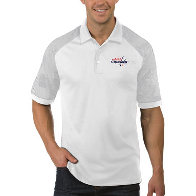 Washington Capitals Antigua Engage Big & Tall Polo - White