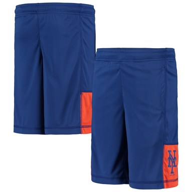 New York Mets Youth Infield Fly Solid Shorts - Royal