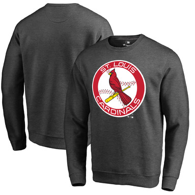 St. Louis Cardinals Fanatics Branded Cooperstown Collection Huntington Sweatshirt - Heathered Gray
