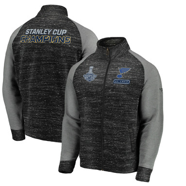 St. Louis Blues Fanatics Branded 2019 Stanley Cup Champions Full-Zip Podium Jacket - Black