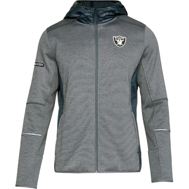 Oakland Raiders Under Armour Combine Authentic Full-Zip Swacket – Charcoal