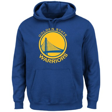 Golden State Warriors Majestic Current Logo Tech Patch Hoodie - Royal