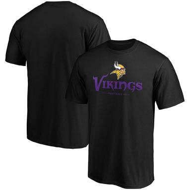 Minnesota Vikings NFL Pro Line by Fanatics Branded Team Lockup Logo T-Shirt - Black