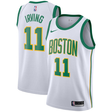 Kyrie Irving Boston Celtics Nike 2018/19 Swingman Jersey – City Edition – White