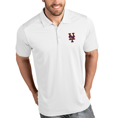 New York Mets Antigua Tribute Polo - White