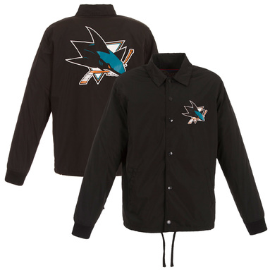 San Jose Sharks JH Design Nylon Jacket - Black