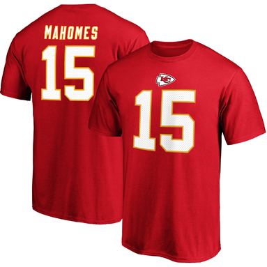 Patrick Mahomes Kansas City Chiefs NFL Pro Line by Fanatics Branded Authentic Stack Team Name & Number T-Shirt - Red