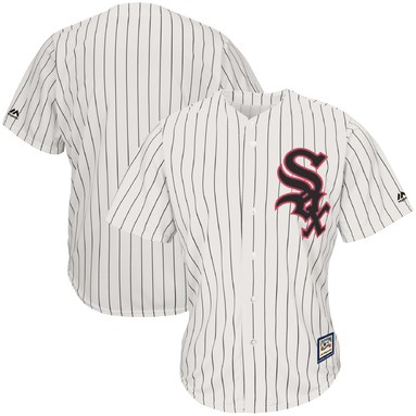 Chicago White Sox Majestic Alternate Cooperstown Cool Base Replica Team Jersey - Cream/Black