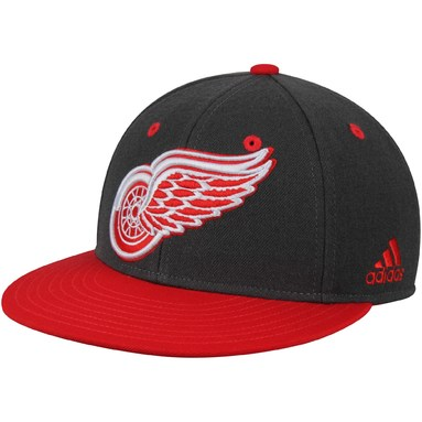 Detroit Red Wings adidas Two Tone Fitted Hat - Gray/Red