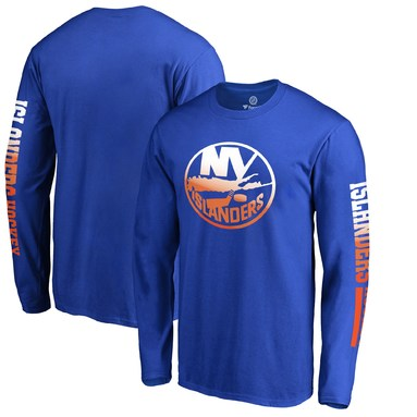 New York Islanders Fanatics Branded Gradient Logo Long Sleeve T-Shirt - Royal