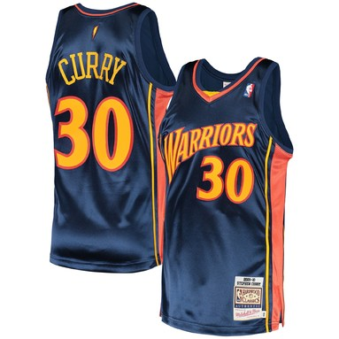 Stephen Curry Golden State Warriors Mitchell & Ness 2009 Hardwood Classics Authentic Jersey - Navy