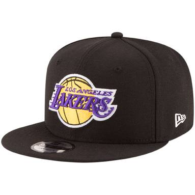 Los Angeles Lakers New Era Official Team Color 9FIFTY Adjustable Snapback Hat - Black