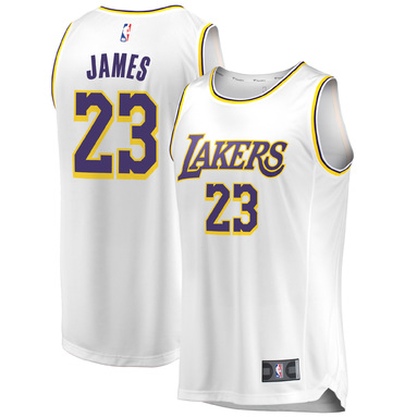 LeBron James Los Angeles Lakers Fanatics Branded 2018/19 Fast Break Replica Jersey White – Association Edition