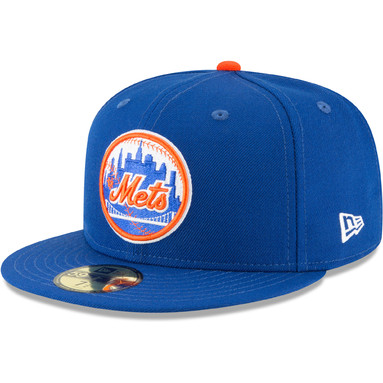 New York Mets New Era Cooperstown Collection Wool 59FIFTY Fitted Hat - Blue