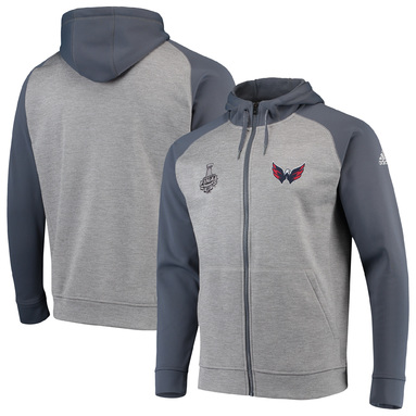 Washington Capitals adidas Tech Fleece climawarm Full-Zip Jacket - Gray