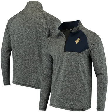 Cleveland Cavaliers Fanatics Branded Static Quarter-Zip Pullover Jacket - Heathered Charcoal