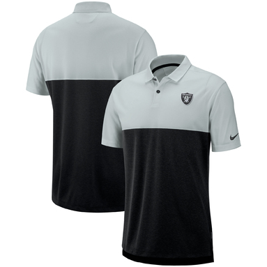 Oakland Raiders Nike Sideline Early Season Performance Polo – Gray/Black