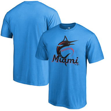 Miami Marlins Fanatics Branded Primary Logo T-Shirt – Blue