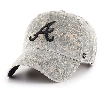 Atlanta Braves '47 Phalanx Clean Up Adjustable Hat - Camo