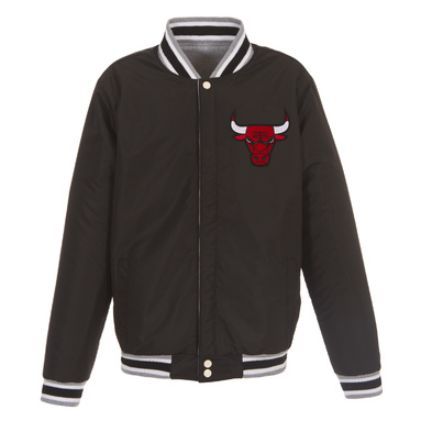Мужская куртка с застежками Chicago Bulls Embroidered Logo Reversible Fleece картинка