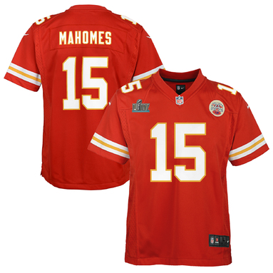 Patrick Mahomes Kansas City Chiefs Nike Youth Super Bowl LIV Bound Game Jersey - Red
