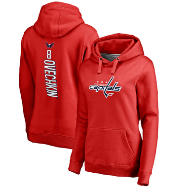 Alexander Ovechkin Washington Capitals Fanatics Branded Women's Backer Pullover Hoodie - Red
