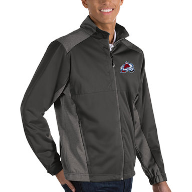 Colorado Avalanche Antigua Revolve Big & Tall Full Zip Jacket – Charcoal