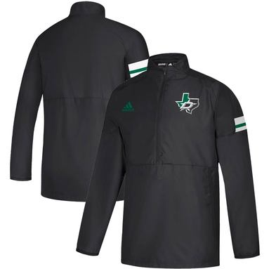 Dallas Stars adidas Game Mode Quarter-Zip Pullover Jacket - Black