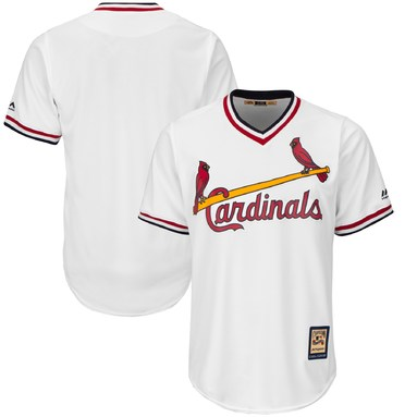 St. Louis Cardinals Majestic Home Cooperstown Cool Base Replica Team Jersey - White