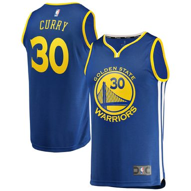 Stephen Curry Golden State Warriors Fanatics Branded Youth Fast Break Replica Jersey Royal - Icon Edition