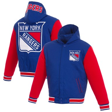 New York Rangers JH Design Reversible Poly-Twill Jacket - Royal/Red