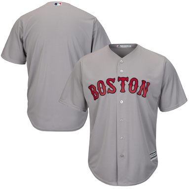 Boston Red Sox Majestic Official Cool Base Team Jersey - Gray