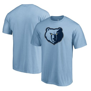 Memphis Grizzlies Primary Logo T-Shirt - Light Blue