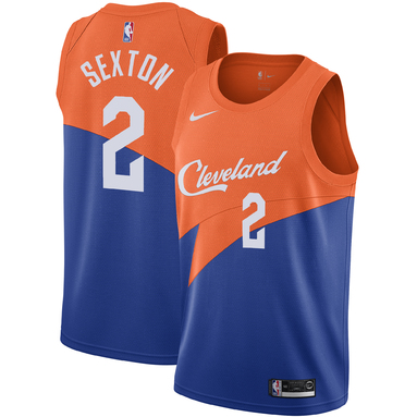 Collin Sexton Cleveland Cavaliers Nike 2018/19 Swingman Jersey – City Edition – Blue
