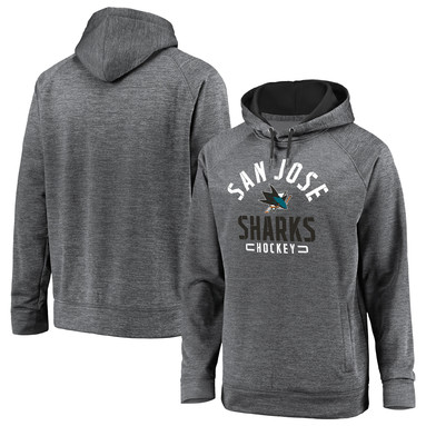 San Jose Sharks Fanatics Branded Big & Tall Battle Charged Raglan Pullover Hoodie - Gray