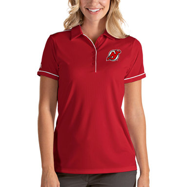New Jersey Devils Antigua Women's Salute Polo - Red/White