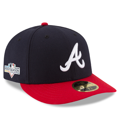 Atlanta Braves New Era 2019 Postseason Home Side Patch Low Profile 59FIFTY Fitted Hat - Navy/Red
