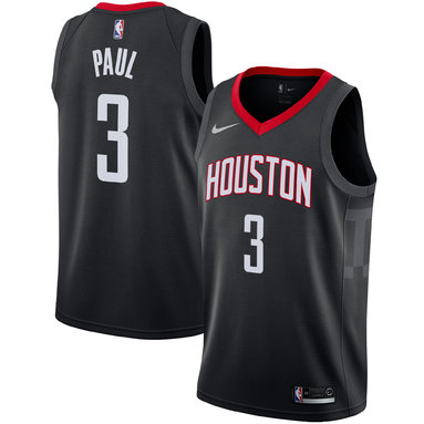Chris Paul Houston Rockets Nike Swingman Jersey - Statement Edition – Black