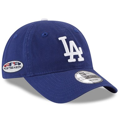 Los Angeles Dodgers New Era 2018 Postseason Side Patch 49FORTY Fitted Hat - Royal