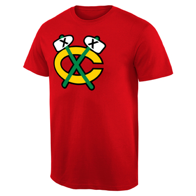 Chicago Blackhawks Fan Big Alternate Logo T-Shirt - Red